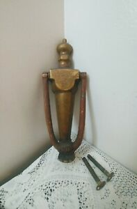 Vintage Ornate Brass Door Knocker w/Original Hardware