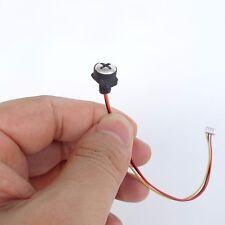HD 1000TVL wired white screw pinhole nanny camera micro hidden spy camera+power