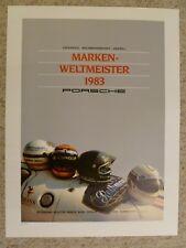 1983 Porsche Marken-Weltmeister Signed Erich Strenger Porsche Poster Set #3 RARE