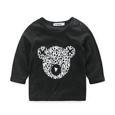 Toddler kid baby boy cotton suit long sleeve top + pants clothes suit