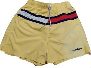 men's Tommy Hilfiger swim trunks size L  yellow, blue, red, white