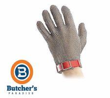 BUTCHER'S 5 FINGER CHAIN MESH GLOVE PLASTIC BAND *PLUS FREE MESH GLOVE TENTIONER