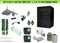 Best Complete CFL Hydroponic Grow Room Tent Fan Filter CFL Light Kit 80x80x180