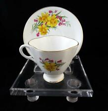 """ROYAL WINDSOR YELLOW DAFFODIL BANFF CANADA 3"""" QUATREFOIL CUP AND SAUCER"""