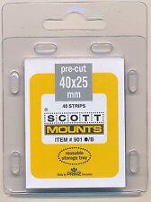 Prinz Scott Stamp Mounts Size 40/25 BLACK Background Pack of 40
