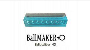 BallMAKER MOLD for making BALLS cal. 43 for PPQ, TPM, S&W economic gümmi balle