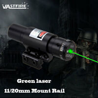 Tactical Green Dot Laser Light Combo Sight Mount Rail 11/20mm For Hunting Scope