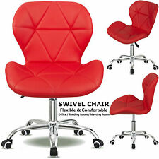 Swivel PU Leather Cushioned Chair Computer Office Desk Studio Salon Barber Red