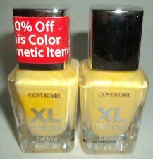 2 COVERGIRL XL Nail Gel Nail Polish nail Enamel HAUGHTY LEMON 740