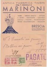 BRESCIA - ANTICA FABBRICA TIMBRI MARINONI 1942 MARCHE DA BOLLO