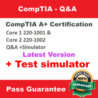 Comptia A+ certification core 1 220-1001 & core 2 220-1002 Q&A +simulator ✔ 📩