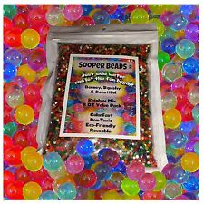 Hot Water Beads (1,000 beads) Sooper Beads for Orbeez Spa Refill Sensory Toy