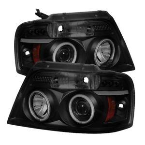 Spyder Black Smoke Projector Headlights Version 2 CCFL Halo for 04-08 Ford F150