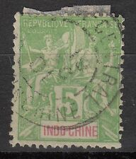 INDOCHINE TIMBRE COLONIE FRANCE  OBL  N° 6  TYPE MOUCHON