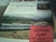 ephemera 1962 advert the vista dome california zephyr train rio grande