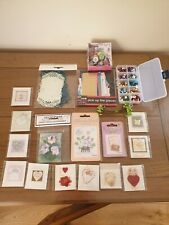Joblot of Mixed Stick on Greeting card Applique,buttons,card etc