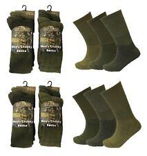 Mens 6 Pairs Army Patrol Combat Boot High Performance Hiking Padded Warm Socks