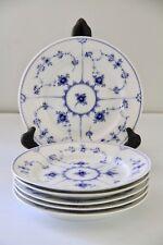 Royal Copenhagen  Blue Fluted Plain 1st Quality #179 Set of 6 Salad Plates