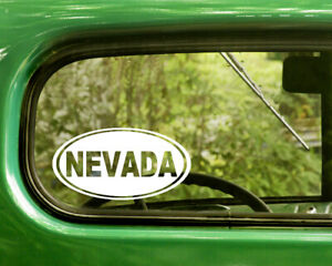 2 NEVADA DECALs Oval Stickers Bogo For Car Truck Laptop Rv Window Bumper Jeep