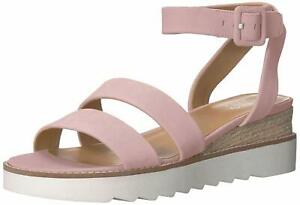 Franco Sarto Womens Connolly Leather Open Toe SlingBack, Light Pink, Size 11.0
