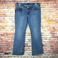 Seven7 Womens Size 16 Bootcut Medium Wash Denim Jeans