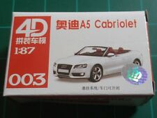 1/87 HO Scale Audi A5 Cabriolet Plastic Model Kit 4D #003