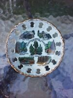 """Vtg Sequoia & Kings Canyon National Parks 4.75"""" Souvenir Plate Three Rivers CA"""