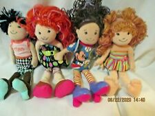 """Groovy Girls 12"""" Plush Dolls with Clothes Brunettes & Redheads 2006 Lot of 4"""