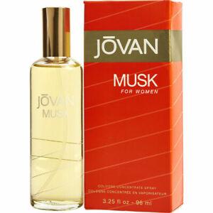 MUSK FOR WOMEN 96ml EDC SPRAY BY JOVAN ------------------ EAU DE COLOGNE PERFUME