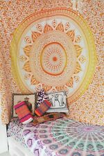Ombre Mandala Wall Hanging Cotton Table Runner Beach Blanket Boho Queen Tapestry