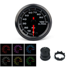 Pointer LED Oil Pressure Gauge With Sensor Auto Universal Backlight Adjustable