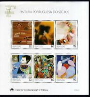 Portugal 1990 postfrisch Block MiNr. 74  Gemälde des 20. Jahrhunderts