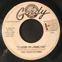 "(I Know) I'm Losing You by The Temptations (Gordy G-7057DJ) Dbl ""A"" 7"" PROMO VG-"