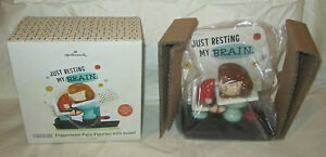 Hallmark Peanuts Peppermint Patty Just Resting My Brain on School Desk NEW Gift