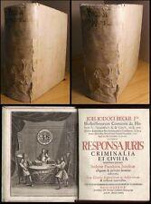 Jura Johann Jodocus Beck juris criminalia seule sortie Nuremberg 1736