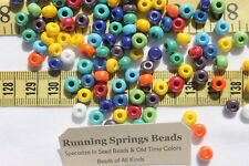 1/0 Seed Beads Glass Opaque Luster Mix Crafts Jewelry Making 6 x 5mm /1oz