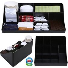 Coffee Tea Station Condiment Shelf Bar Organizer for Office Home Breakroom Table