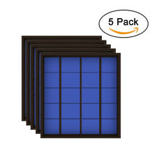 5pcs 5V 500mA 2.5Watt Solar Panel Standard Epoxy Polycrystalline Silicon Cell