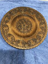 Vtg Intricately Carved Wooden Wall Plate - Excellent Condition!