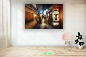 Japan streets at Night City CANVAS PRINT, ROLLED,STRETCHED or FLOATING FRAME