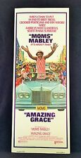 Original 1974 MOMS MABLEY AMAZING GRACE Movie Poster 14 x 36 BLAXPLOITATION