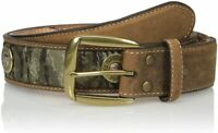 Nocona Mens Mossy Oak Camo Shot Gun Shell Bullet Removable Buckle Straight Belt