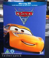 CARS 3 [Blu-ray 3D + 2D] Disney Pixar Third Movie 3-Disc Combo Pack w/ Slipcover