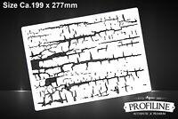 Risse Struktur Effekt Dirty Ground Airbrush Schablone - Effects StructureStencil