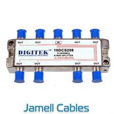 Digitek 8 Way F Type TV Antenna Splitter 5-2400Mhz