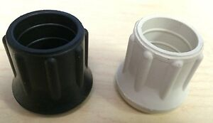 2 Heavy Duty Rubber/PVC Tips for Crutches/Canes/Walkers/Walking Sticks/Chairs