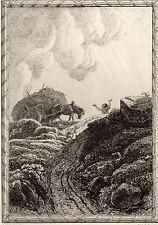 EAU FORTE / Fables de la Fontaine 1883 / LE CHANTIER EMBOURBE
