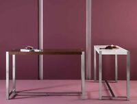 Bartisch Bar Tisch Küchen Tresen Eiche Walnuss oder Weiß + Stahl matt Gestell