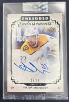 Viktor Arvidsson 2019-20 UD Upper Deck Clear Cut Embedded Endorsements Auto /99