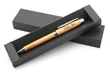 Personalized Bamboo Wooden Pen + Gift Box | Custom Bespoke Laser Engraved